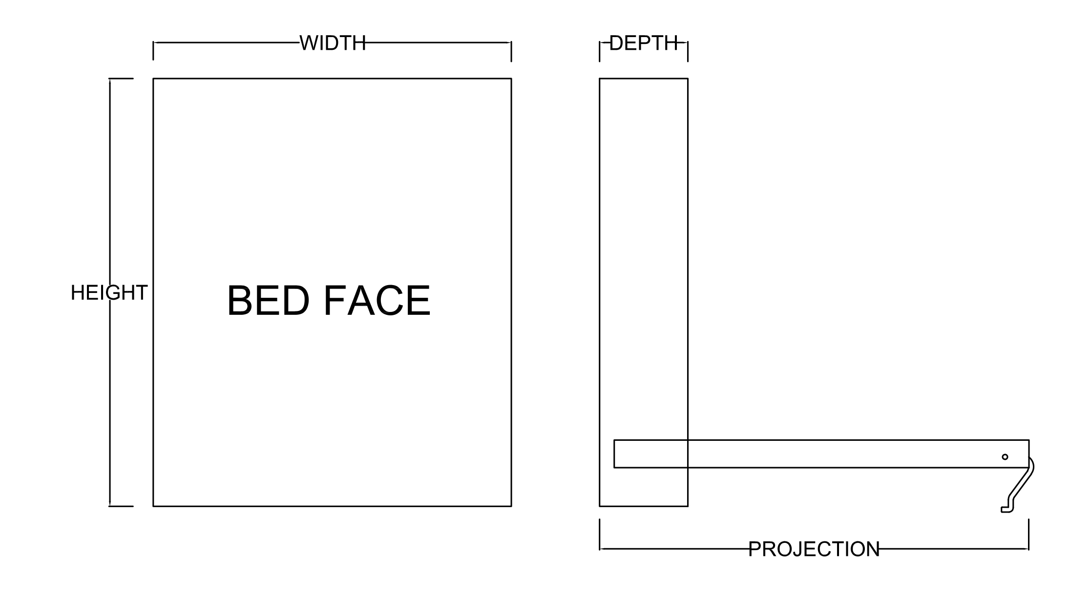 Dimensions National Murphy Beds